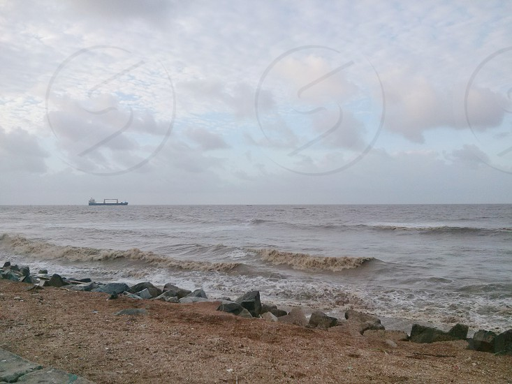 A View of the Atlantic Ocean from Guyana's Coastline photo