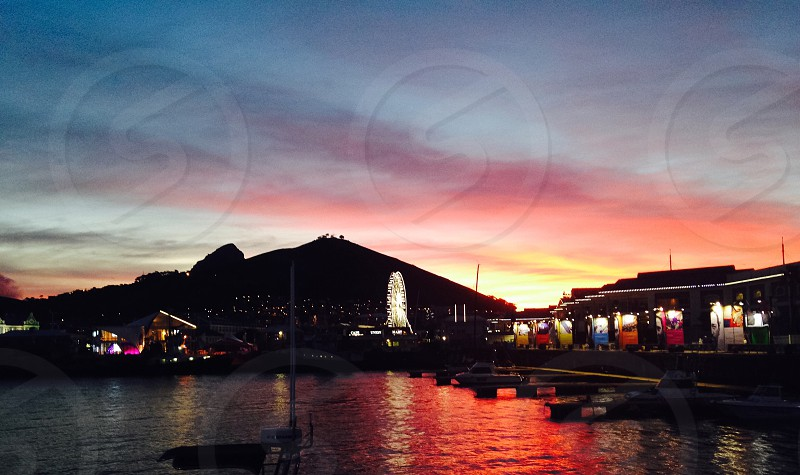 Waterfront at Sunset photo