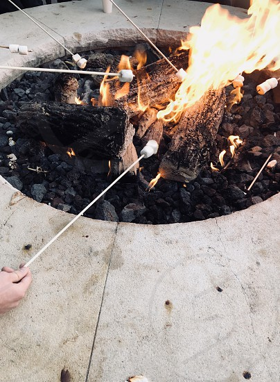 Warm Winter S'mores Fire pit photo