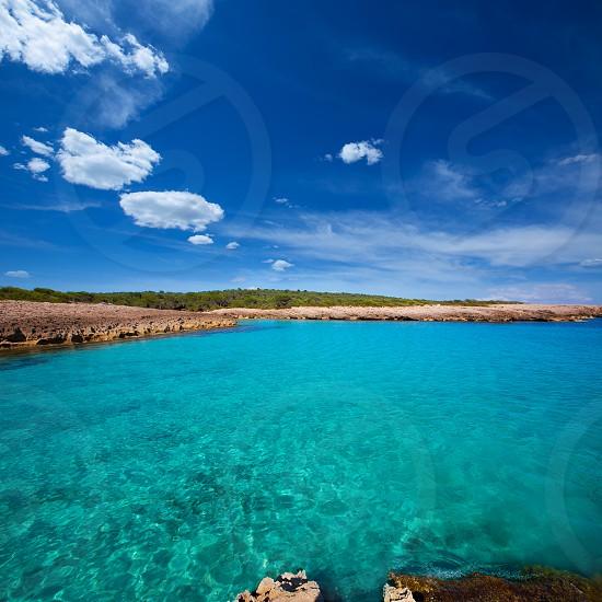 Menorca Cala des Talaier beach in Ciutadella at Balearic islands photo