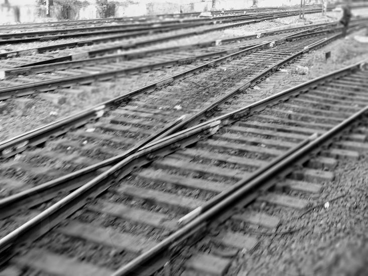 rail tracks.... photo