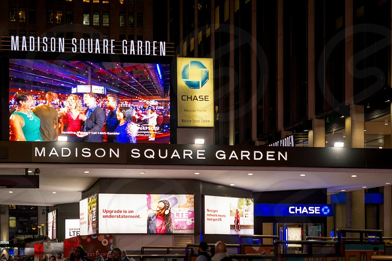 New York USA november 2016: main entrance of the famous Madison Square Garden in New York photo
