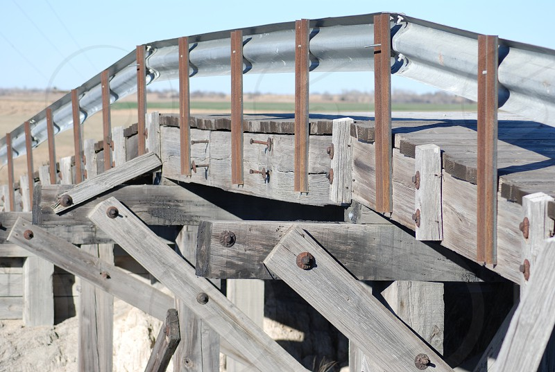This bridge is over 100 years old located in Phillips County Kansas photo