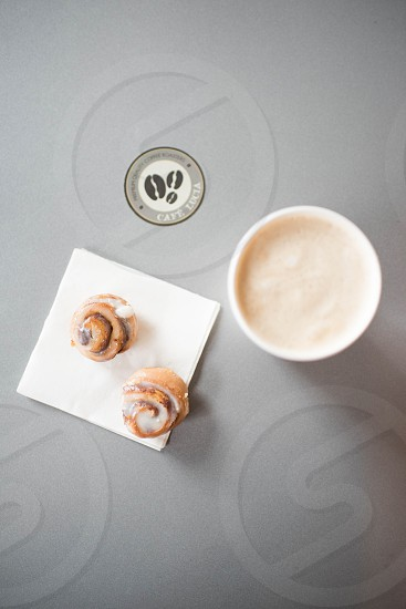 cafe table top sweet treats coffee photo