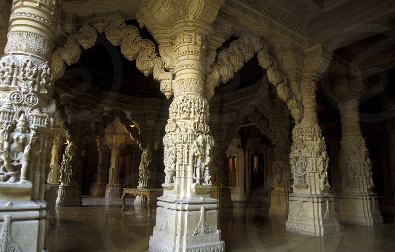 the inside of the Maharadja  Palace in the town of Jaisalmer in the province of Rajasthan in India. photo