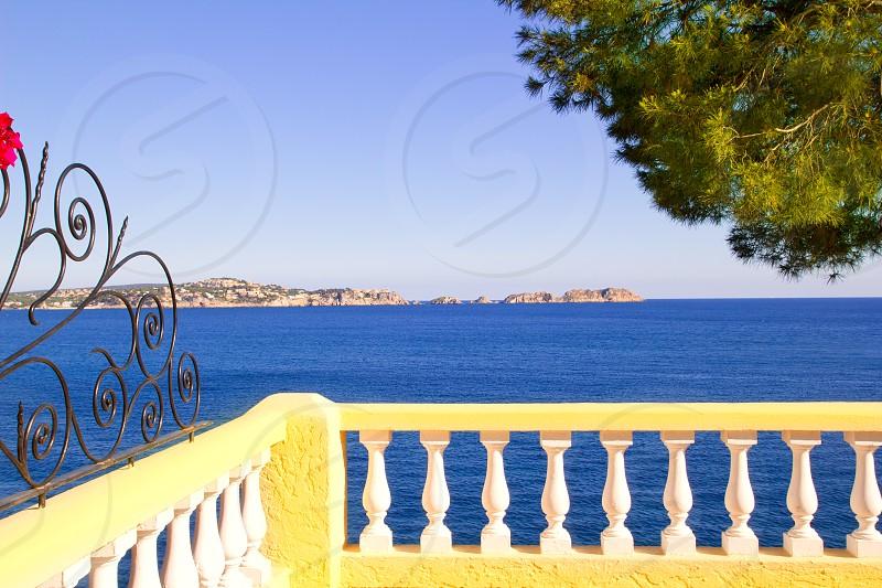 Mediterranean fence in Cala Fornells Mallorca Balearic Island photo