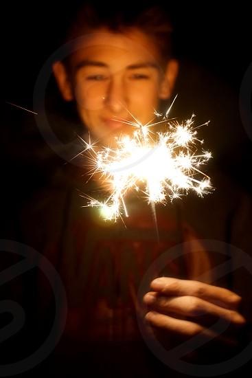 Sparklers Fireworks  photo