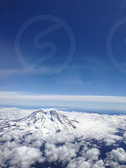 Mount Rainier from the air photo