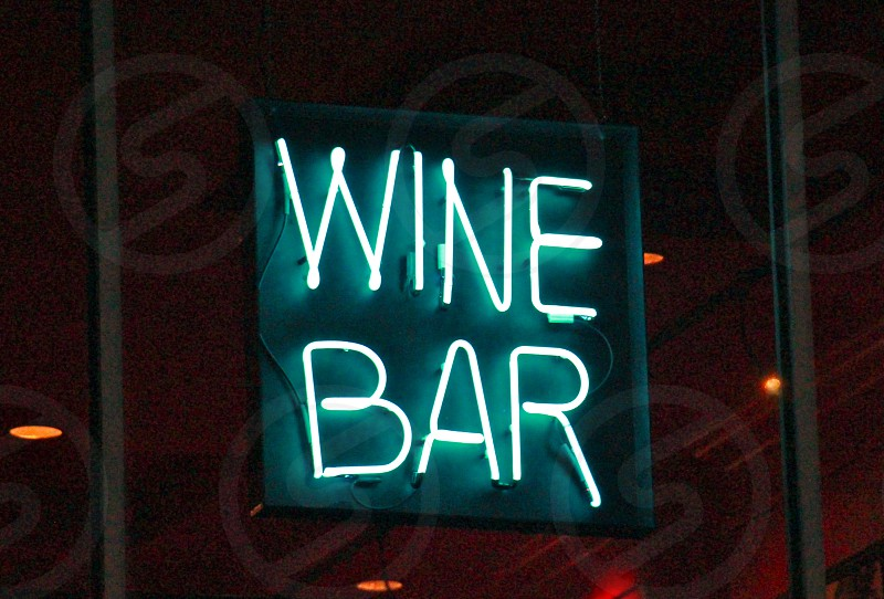wine bar led signage photo
