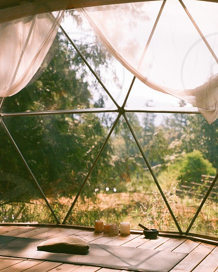 A calming place shut off from the rest of the world. Shot on 35mm film. photo