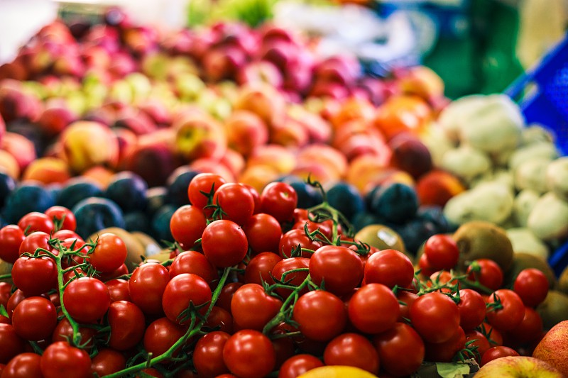 Fruit and Vegetable market in Malta (cherry tomatoes photo