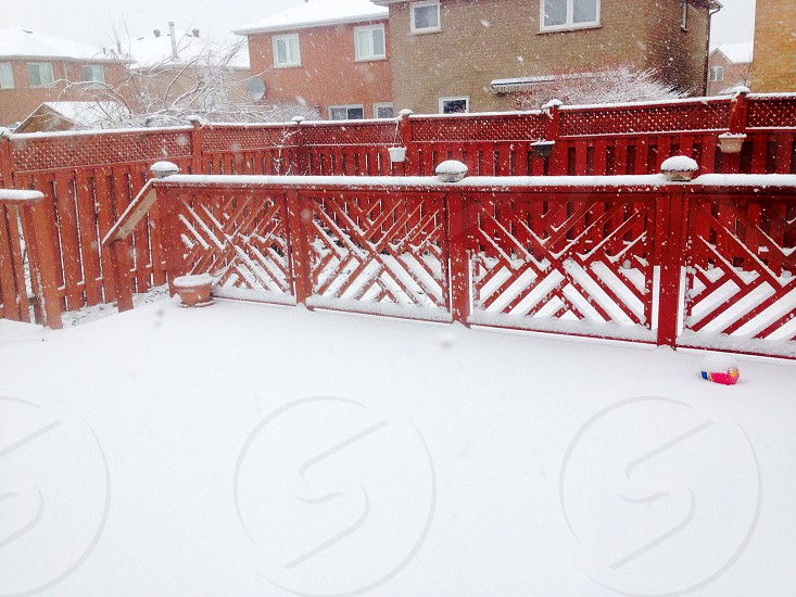 Backyards filled with snow! photo