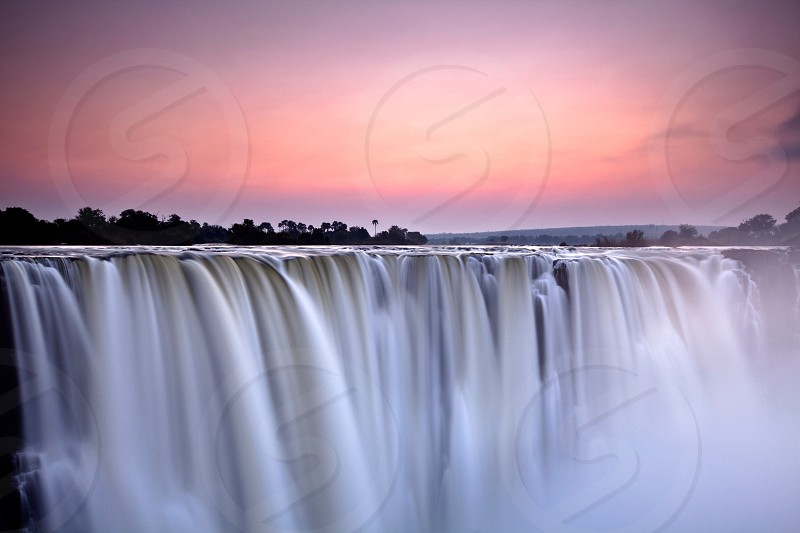 Victoria falls. Long exposure of a waterfall. photo