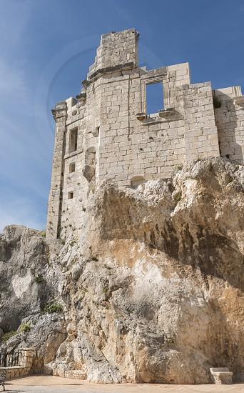 ruine of castle in zuheros in spain photo