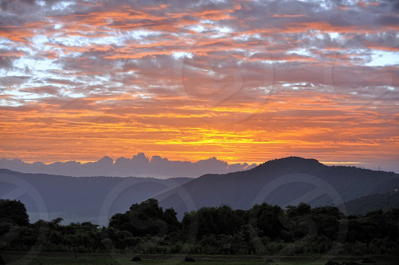 Sunrise in Ngoro Ngoro Tanzania Africa photo