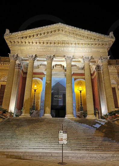 Teatro Massimo front in Palermo city photo