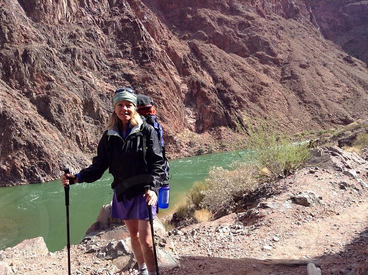 Hiking near the colorado river photo
