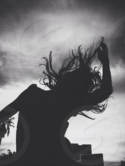 women silhouette  photo