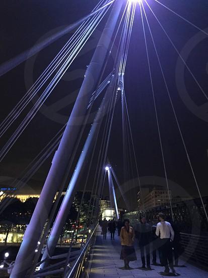 London Thames bridge to Southbank photo