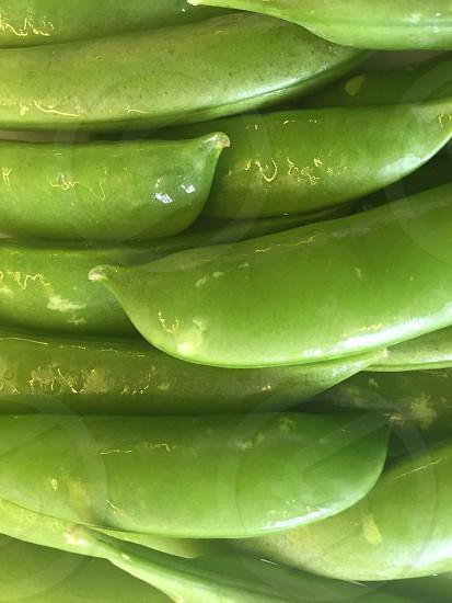 Fresh green Sugarsnap peas photo