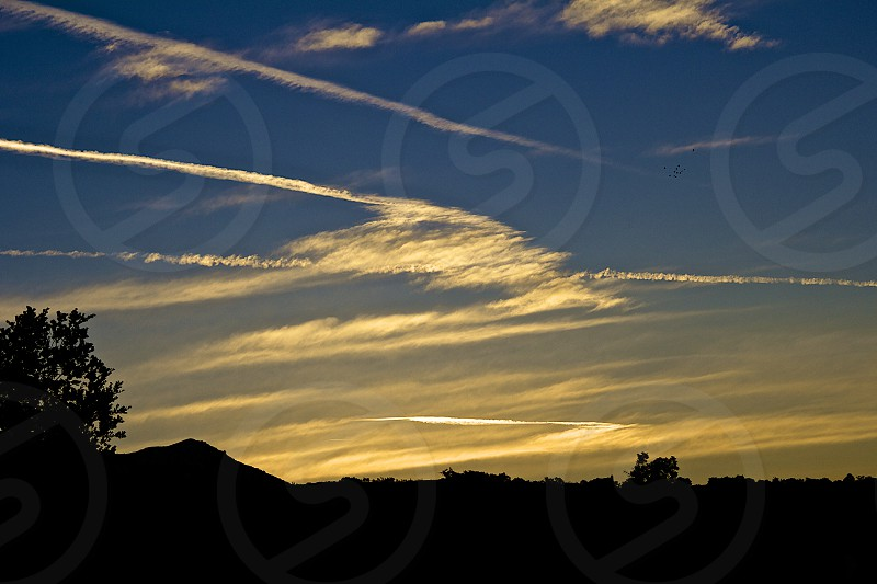 Sunrise over the mountains in Santa Barbara CA photo