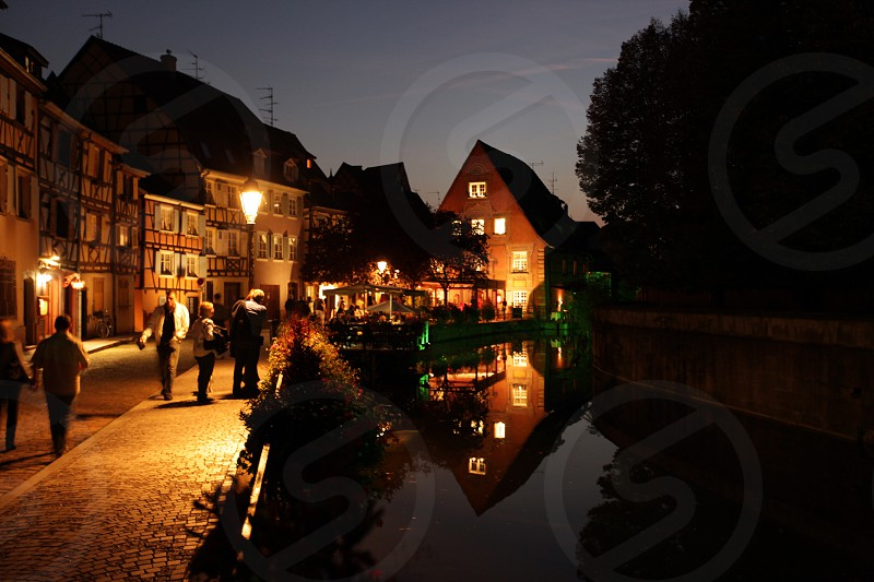 the Market Hall in the old city of Colmar in  the province of Alsace in France in Europe photo