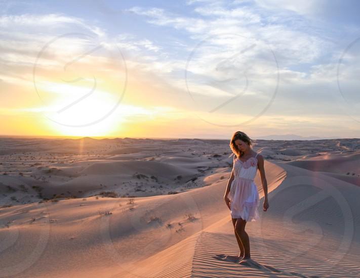 Desert sand dunes remote nowhere sunny pretty photo