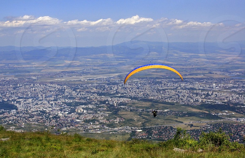 A paraglider over Sofia a Capital of Bulgaria 1 photo