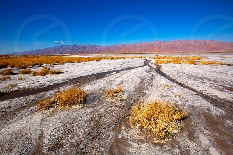 Death Valley National Park California Badwater salt soil desert photo