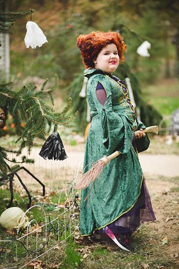 Child witch Hocus Pocus halloween autumn  photo