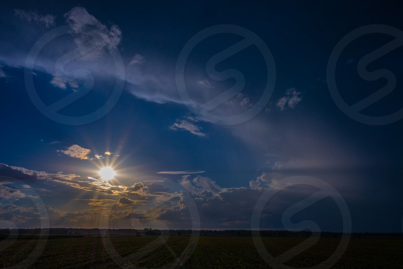 plain field and sun photography photo