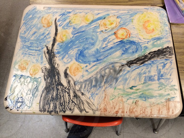 Starry night on a desk  photo