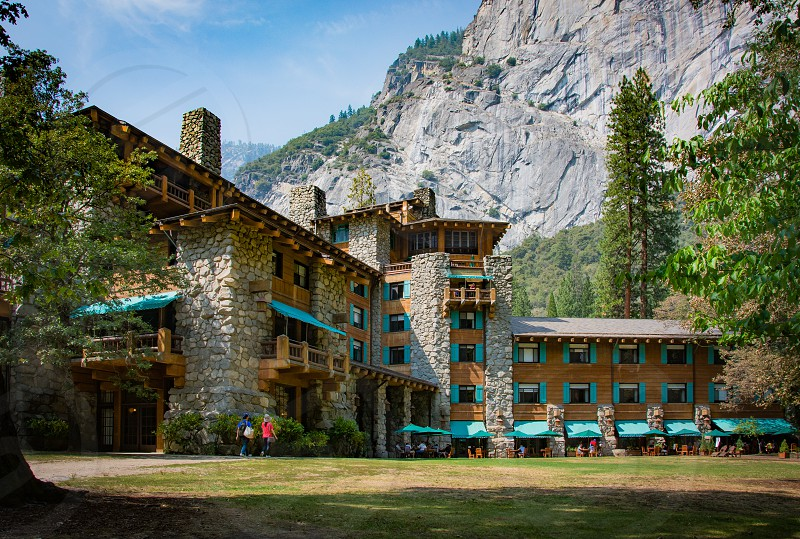 The Ahwahnee Hotel in Yosemite National Park. photo