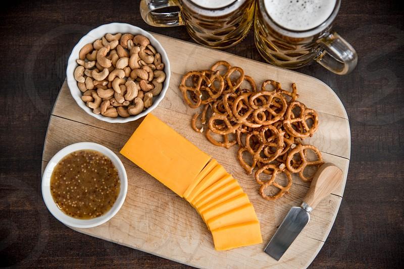 Hero cheese and beer photo