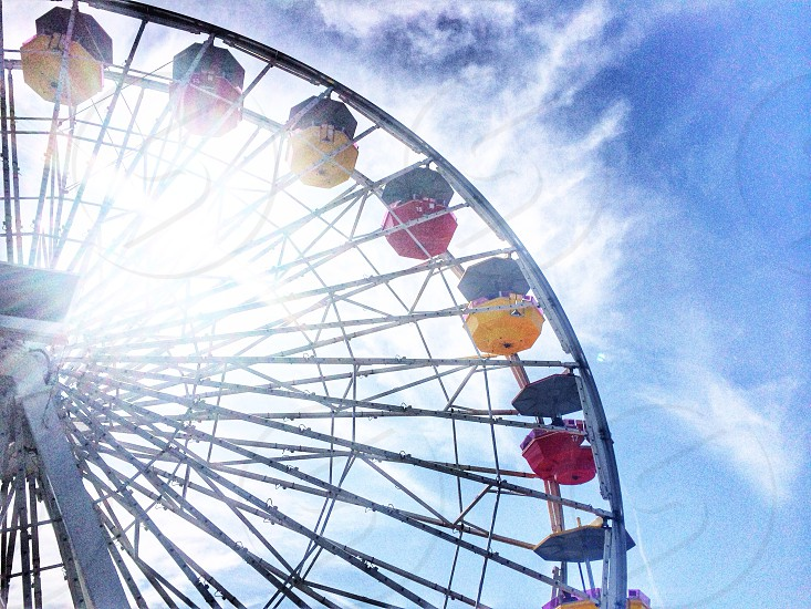 Santa Monica Ferris wheel photo