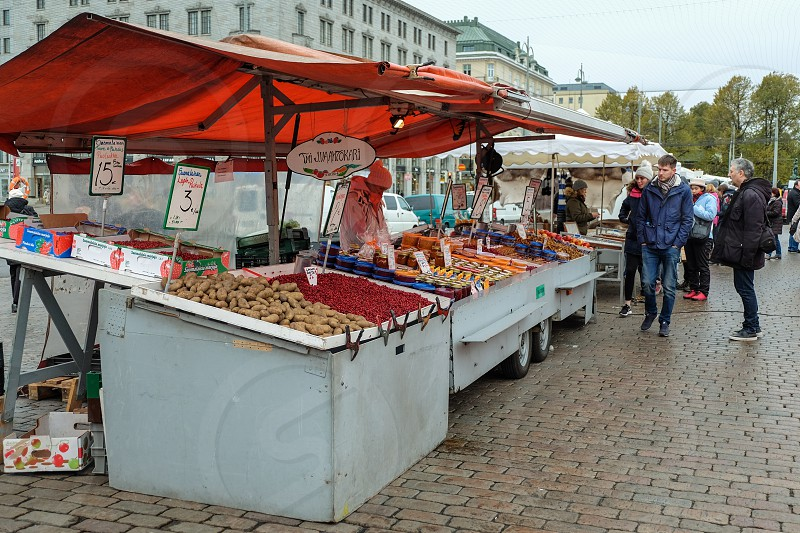 Market Square in Helsinki Finland photo