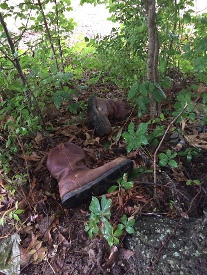 Old boots or a clue? photo