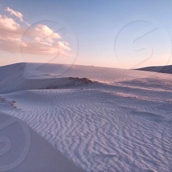 white sand view photo