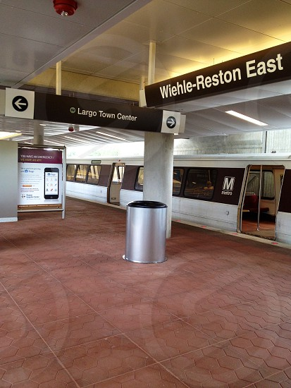 Newly opened Wielhle-Reston Metro station one day after grand opening of Silverline of DC Metro System photo