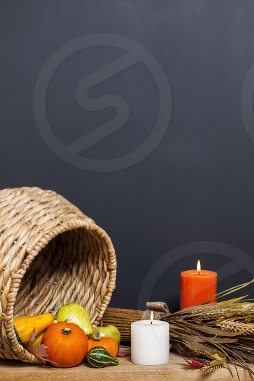 Thanksgiving harvest candles photo