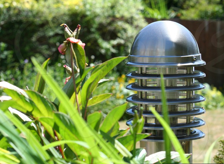 Lighting system in the garden photo