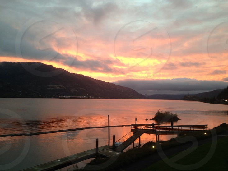 Columbia River Sunrise. photo
