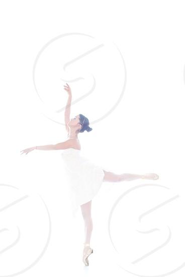 ballerina dance grace sophistication white photo