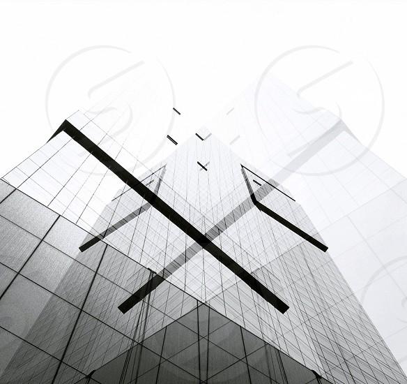 white glass building photo