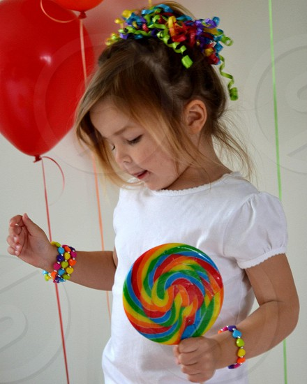 Rainbow birthday photo
