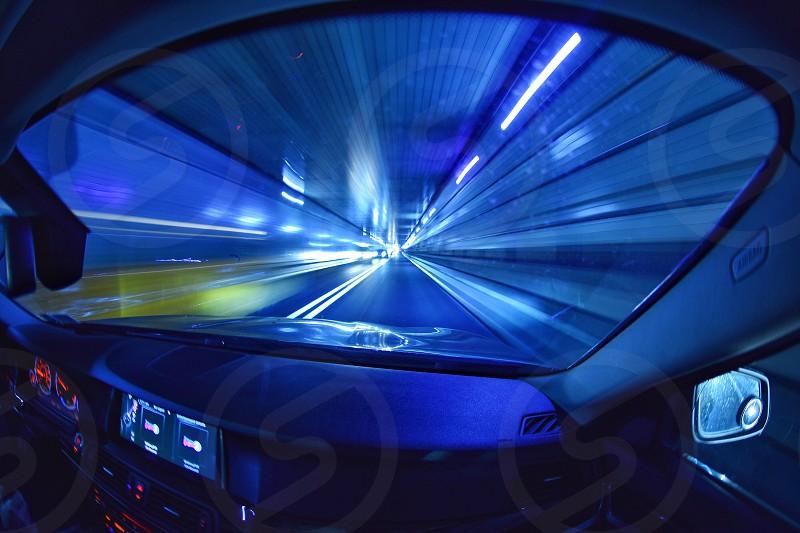 speed light on highway photo
