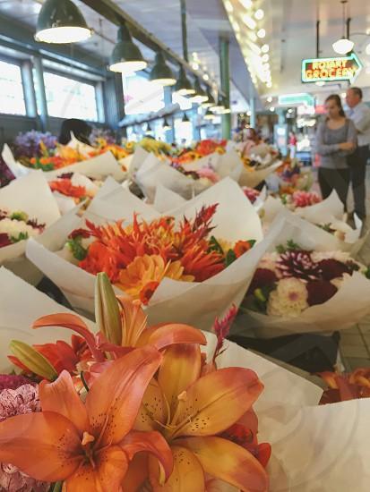 Seattle. Public Market. Market Flowers.Pikes Place photo