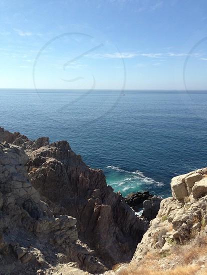 cliff ocean view photo