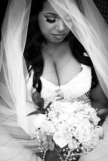 Bride Bridal Black and White Bridal photo