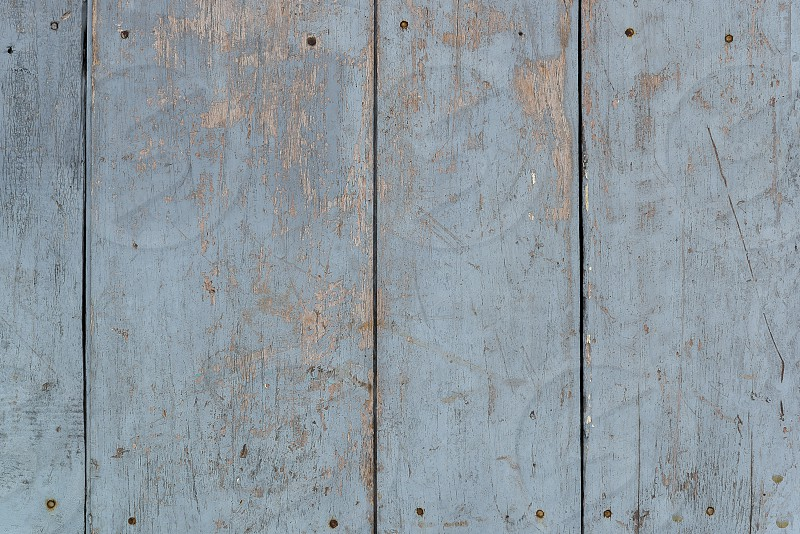 Dirty blue painted wood wall photo